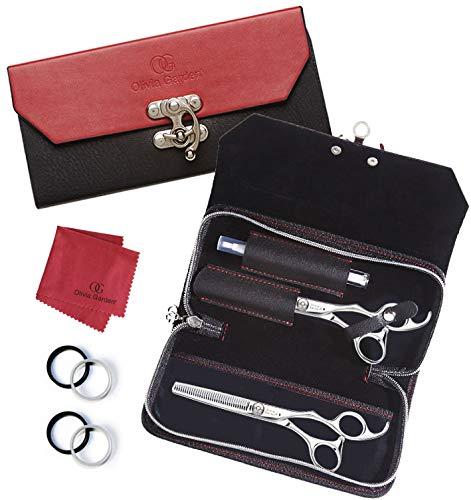 Olivia Garden SilkCut Shear Case deal (6.5'' contains: SK-650, SK-T635) by Olivia Garden