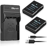 OAproda 2 Pack Replacement EN-EL14 Battery and Ultra Slim Micro USB Charger for Nikon EN-EL14a , D3100, D3200, D3300, D3400, D5100, D5200, D5300, D5500, P7000, P7100, P7700, P7800, Df Camera