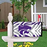 VictoryStore Yard Sign Outdoor Lawn Decorations: Kansas State University Magnetic Mailbox Cover (Design 4).
