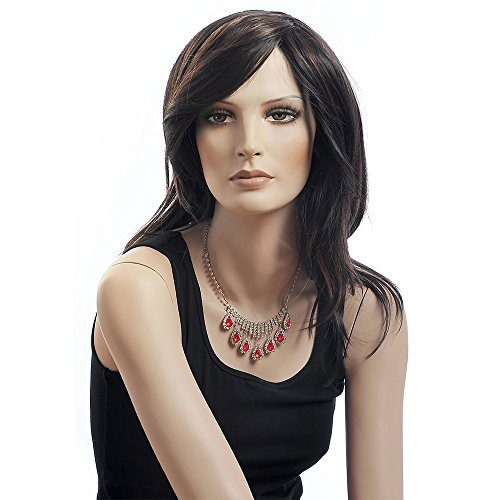 Costumes Of Different Indian States (Synthetic Fiber of 100% Japan's hair Cosplay Black Highlights Women Wig D3030)