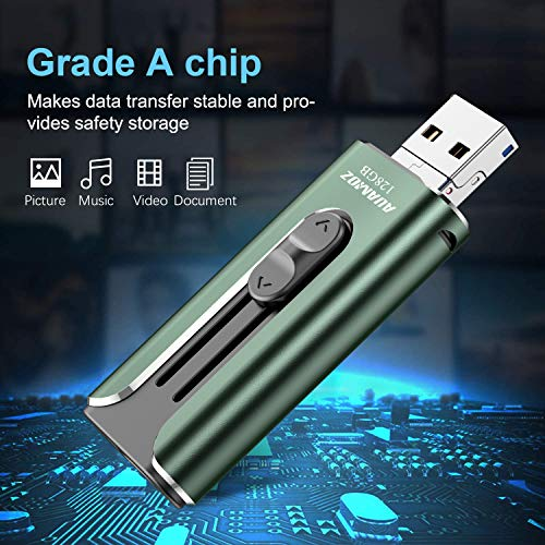 Mobile Phone External Expandable Memory Storage Drive USB3.0 Flash Drives 256GB Take More Photos /& Videos Dark Green IMKAR Memory Drive 256GB Photo Stick Compatible with Mobile Phone /& Computers