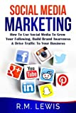 Social Media Marketing: Learn Strategies on How to Use FaceBook, YouTube, Instagram and Twitter to Grow Your Following, Build Brand Awareness and Drive Traffic to Your Business.