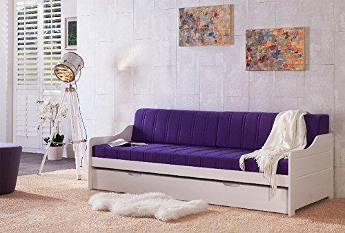 Sofabett Tagesbett Miriam Kiefer massiv weiß 90x200cm NEU