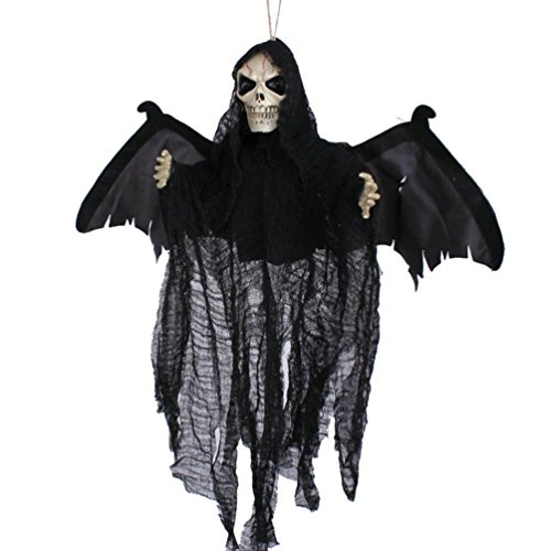 Hatop Sound Control Creepy Scary Animated Skeleton Ghost Halloween Party Decoration (Jet 7 Club Halloween)
