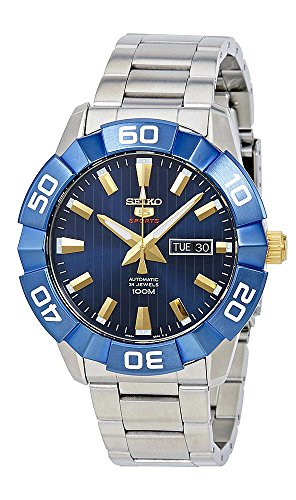 Seiko 5 Sports SRPA53 Men's Stainless Steel Orange Dial 100M Automatic Watch
