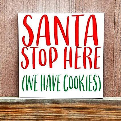 Amazon.com Adonis554Dan Christmas Wood Signs anta Stop Here