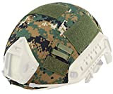Sensun Military Tactical Helmet Cover for Ops-Core Fast Ballistic Helmets Army Paintball Hunting Shooting Gear , D-Woodland