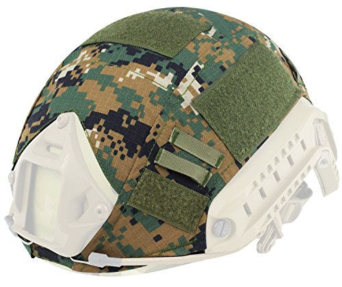 Sensun Military Tactical Helmet Cover for Ops-Core Fast Ballistic Helmets Army Paintball Hunting Shooting Gear , D-Woodland by Sensun
