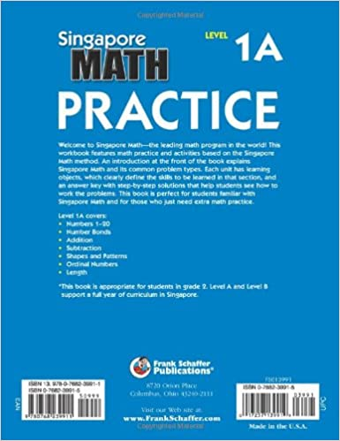 Amazon.com: Singapore Math Practice, Level 1A, Grade 2 ...