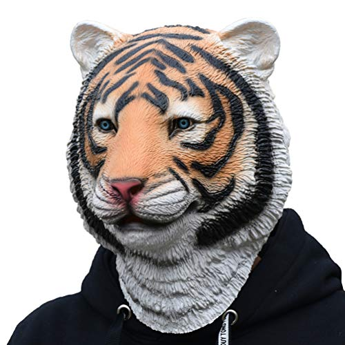 PARTY STORY Tiger Mask Latex Halloween Novelty Costume Rubber Animal Head Masks