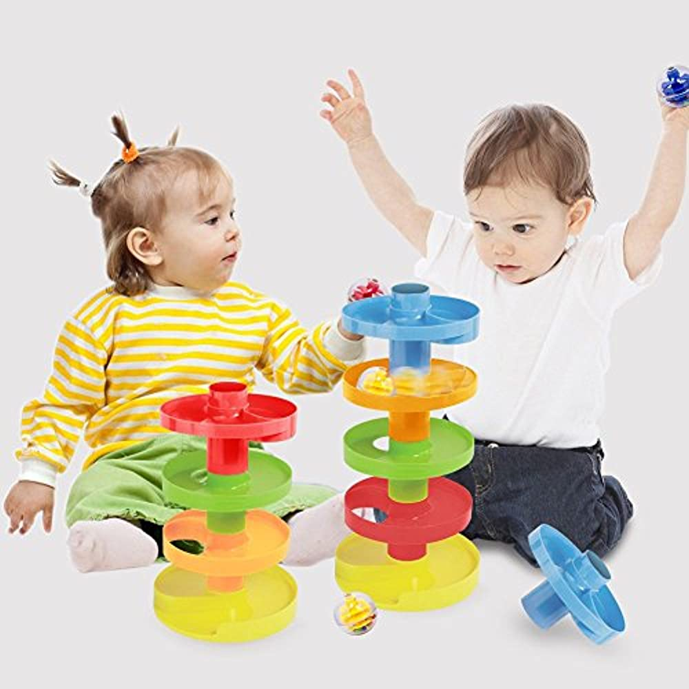 Educational Ball Drop Toy Kids - 9 Tiers 2 Sets Spinning ...
