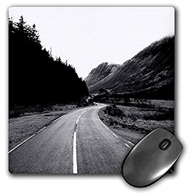 3dRose Made in the highlands photograph, Road trip - Road through the glen at Glen Nevis, Highlands of Scotland - MousePad (mp_282419_1)