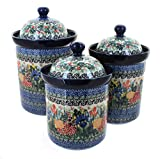 Polish Pottery Summer Blooms Canister Set