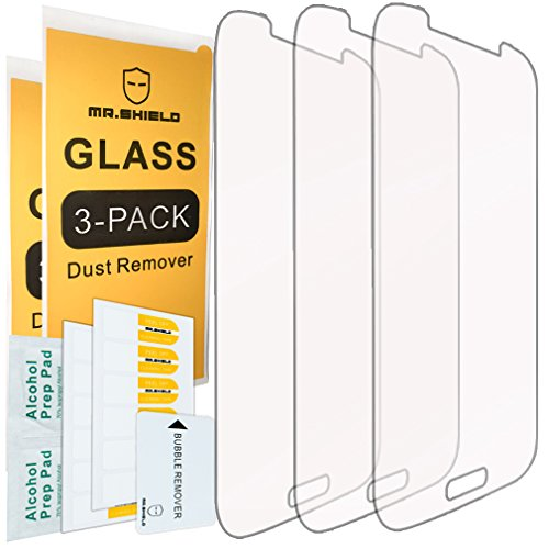 [3-PACK]- Mr Shield For Samsung Galaxy S4 [Tempered Glass] Screen Protector [0.3mm Ultra Thin 9H Hardness 2.5D Round Edge] with Lifetime Replacement Warranty