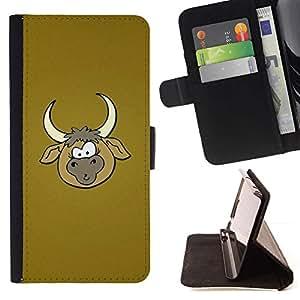 Momo Phone Case / Flip Funda de Cuero Case Cover - Vaquero Granja historieta de Brown - LG G4c Curve H522Y (G4 MINI), NOT FOR LG G4