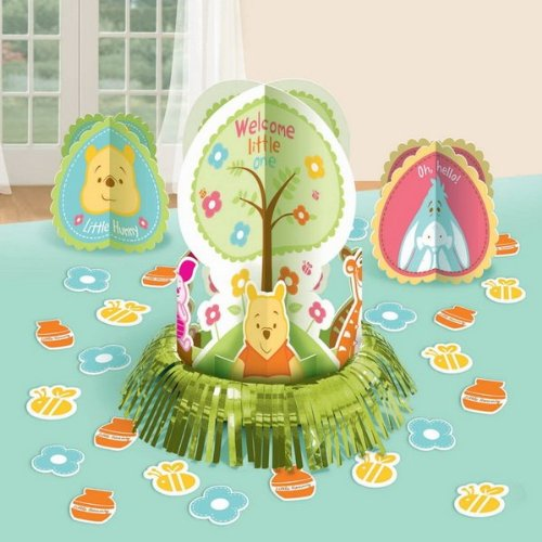 Winnie the Pooh 'Little Hunny' Baby Shower Table Decorating Kit (Winnie The Pooh Baby Shower Decorations)
