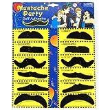 WeAreAwesome SODIAL(TM) 12 ¡Á Fausses moustaches auto-adhšŠsives/pour le bal costumšŠe