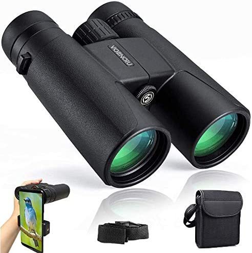 Binoculars for Adults Compact,12×42 HD Professional Binocular with Clear Weak Light Night Vision,Easy Focus Binoculars for Birds Watching,Concerts,Outdoor Hunting,Travel with Phone Adapter