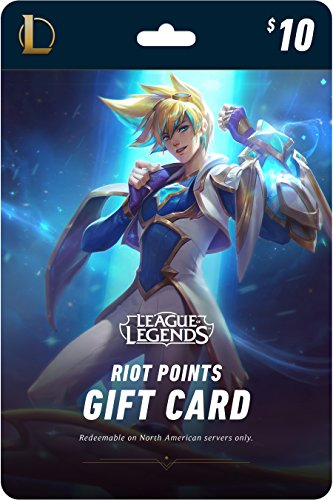: League of Legends $10 Gift Card – 1380 Riot Points - NA Server Only [Online Game Code]