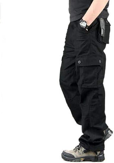 Loeay Pantalones Cargo Para Hombre Casual Multi Bolsillos Pantalones Tacticos Militares Outwear Streetwear Army Pantalones Rectos Pantalones De Senderismo Al Aire Libre Amazon Es Ropa Y Accesorios