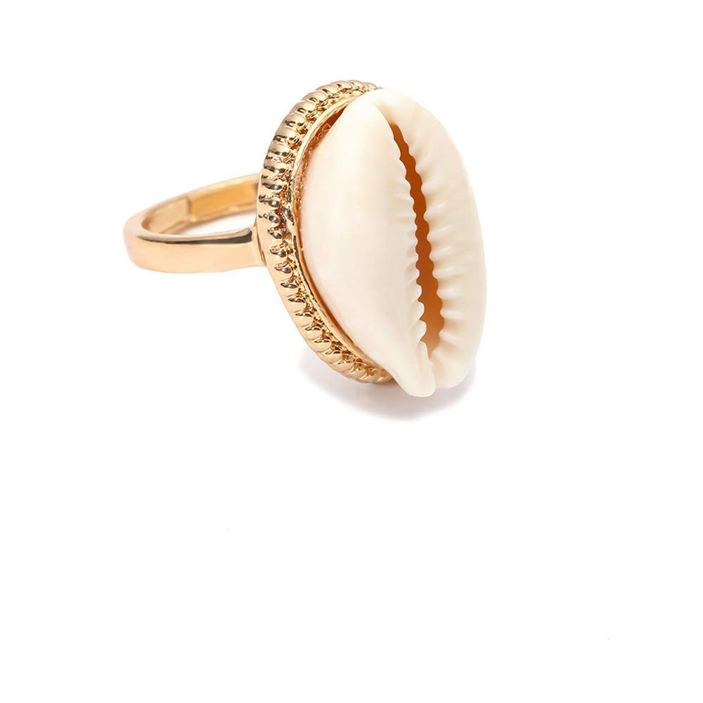 Mrotrida Shell Ring for Women Teen Girls Fashion Natural Sea Shell Finger Rings Bohemian Midi Rings Jewelry