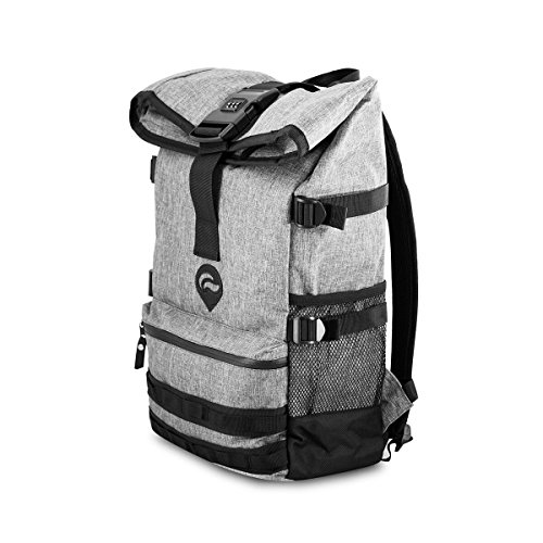 Skunk Backpack Rogue - Smell Proof - Water Proof - Lockable - Hydroponics (Gray)