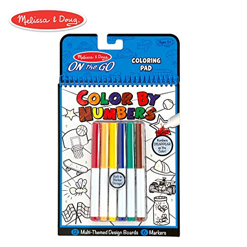 Melissa & Doug On the Go Color by Numbers Kids' Design Boards: Playtime, Construction, Sports, and ()