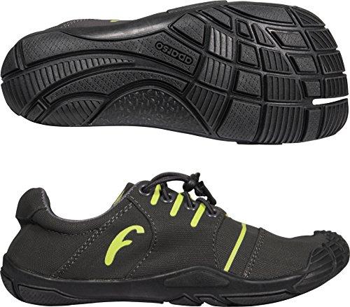 Freet Leap Zapatillas de running Negro Charcoal/Lime Talla:talla 37 Negro - Charcoal/Lime