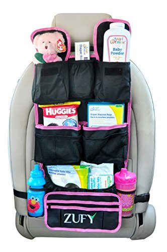 Zufy Backseat Car Organizer |Best Baby Travel Accessories for Kids Toy Storage Ideas|Free Travel Gifts|Available in Blue and Pink