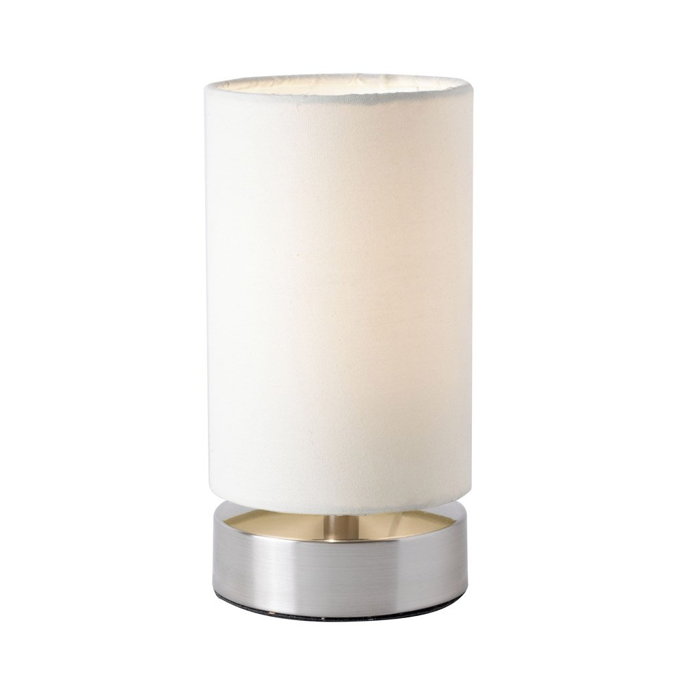 Delicieux Endon Pair Of Cylinder Touch Table Lamps (white Cream, Satin Nickel,  Colliers TLCR): Amazon.co.uk: Lighting