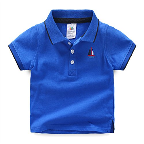 UWESPRING Baby Boy Classic Embroidery Short Sleeve Uniform Polo Shirt 5T
