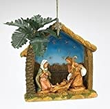 Fontanini The Holy Family in Stable Christmas Ornament