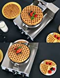 Commercial Belgian Waffle Maker Double Round Thin
