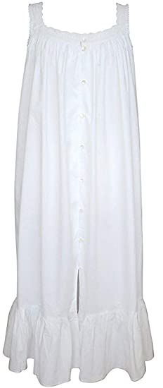 100% Cotton Sleeveless Nightdress Vintage Victorian Style - Jodie ... 2e578c64c