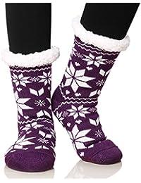 Women's Fleece Lining Fuzzy Soft Christmas Knee Highs...