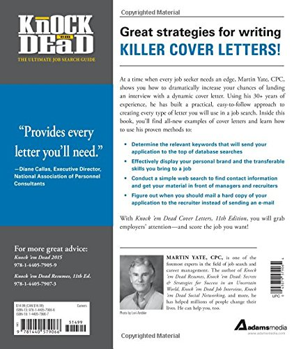 Knock U0027em Dead Cover Letters: Cover Letters And Strategies To Get The Job  You Want: Martin Yate CPC: 9781440579066: Amazon.com: Books  What Should A Cover Letter Look Like