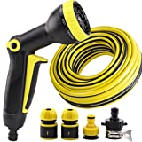 Hongyan Watering Can Garden Hoses Nozzle Reels 9 Ways Showers Car Cleaning Flower Watering Spray Supplies Garden Car Wash Watering Equipment Nozzles Spray Guns Drip Systems(100M) A+ (Size : 5M)