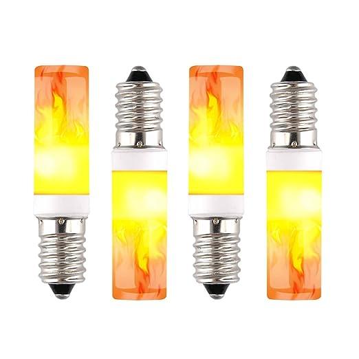 Bombilla LED E14 con efecto llama, un modo de bombilla LED para casa, hotel