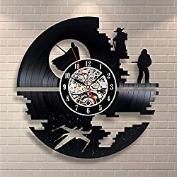 La Bella Casa Star Wars Science Fiction Series Cool Wall Clock Design Unique Wall Home Decor Amazing Wall Gift Present Ideas for Him and Her Modern Handmade Vintage Gift for Youth Adults Teens Boys