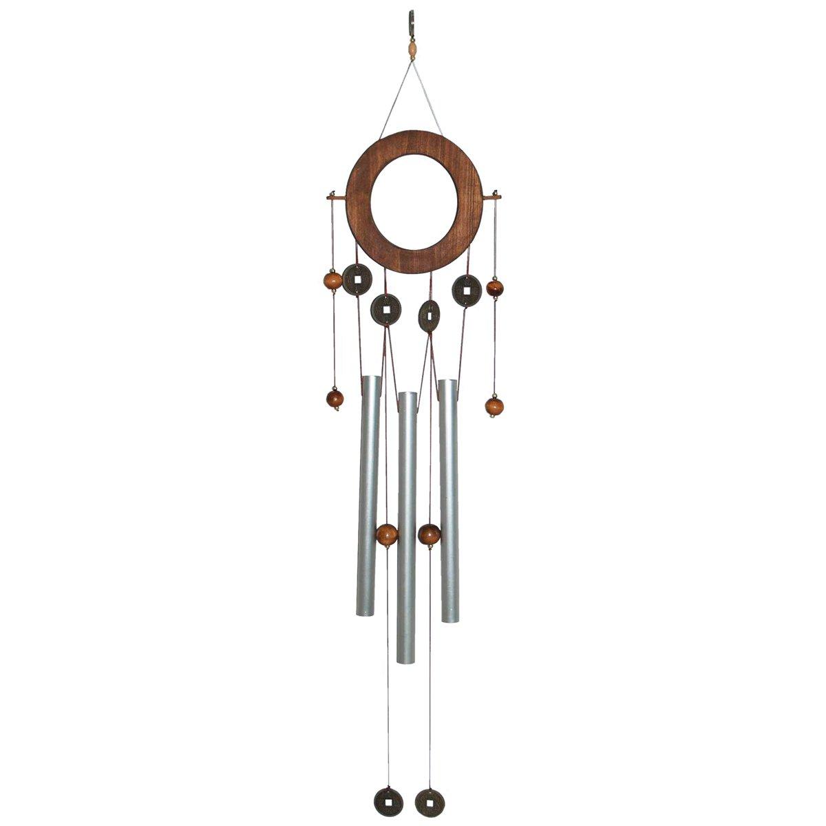 laroom 12485–Carillon Vento Metallo 70cm, Colore: Marrone