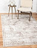 Unique Loom Sofia Collection Beige 4 x 6 Area Rug (4' x 6')