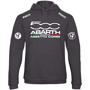 BENVESTI Sweatshirt mit Kapuze FIAT Abarth Assetto Corse Racing Personalisierte schwarz SCU03