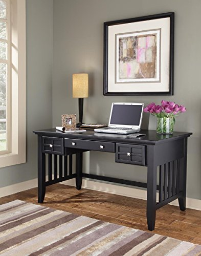 - Arts & Crafts Black Executive Desk by Home Styles