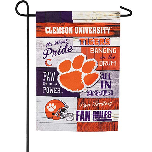 Clemson University Garden - Team Sports America Linen Fan Rules Clemson University Garden Flag