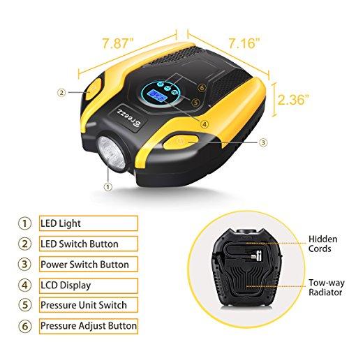 BREEZZ compressor Pump, Portable Auto Pump with Digital Display Gauge Other