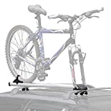 NEW Rooftop Single Bicycle Carrier Fork-Mounted on Car or SUV Crossbars Aluminum