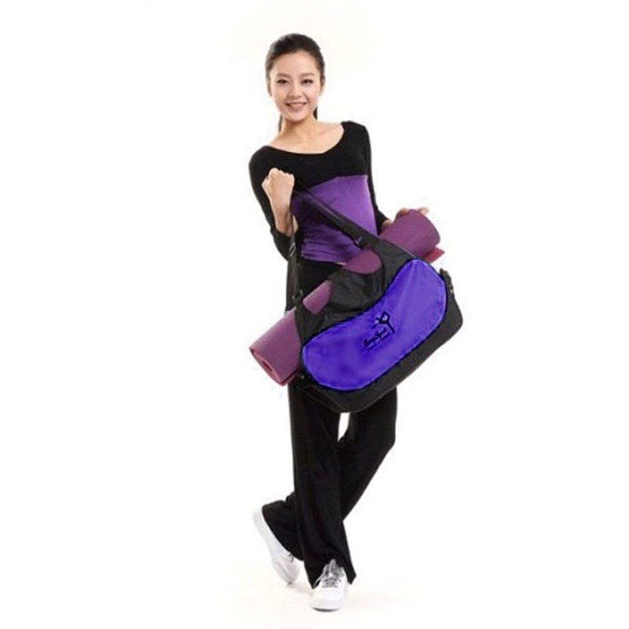 Banbie Multifuncional Impermeable Oxford Tela Yoga Gimnasio Pilates Mat Bolsa de Almacenamiento Mochila Ropa de Gran Capacidad Portadores de Bolsas Deportivas