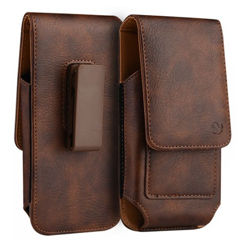 new arrival 0ac8a 4a996 Amazon.com: Leather Case Pouch Vertical Credit Card Holder Swivel ...