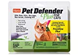 HARTZ Pet Defender Plus Flea & Tick Drops for Cats and Kittens - 3 Monthly Treatments