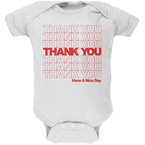 [Halloween Thank You Bag Funny Costume Soft Baby One Piece White 12-18 M] (12 Month Old Baby Halloween Costumes)